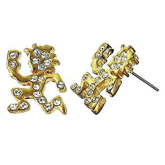 Pendientes oro Cz iced Out Hatchet Man