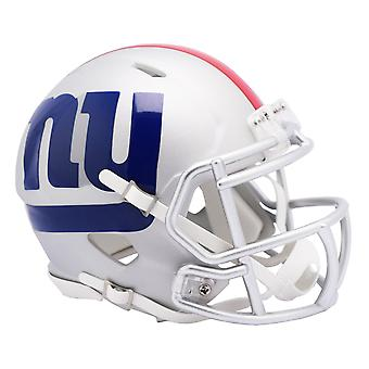 Riddell Speed mini fotball hjelm-NFL AMP New York Giants