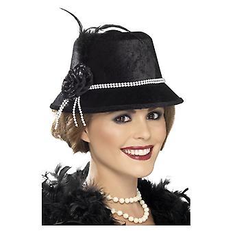 Womens jaren 1920 Hat Fancy Dress accessoire