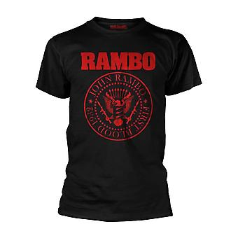 Men's Rambo First Blood 1982 Black T-Shirt