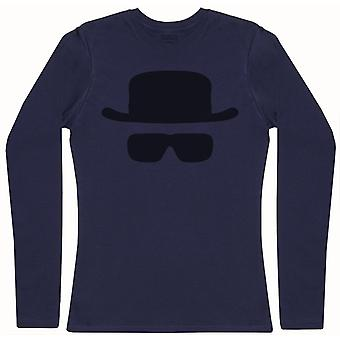 Heisenberg Mask - Womens Long Sleeve T-Shirt
