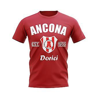 Ancona etablert fotball T-skjorte (Red)