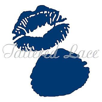 Tattered lace metal die set Kiss mouth etl247
