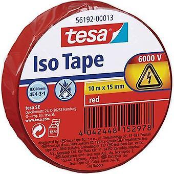 tesa 56192-13-02 Elektrisk bånd Rød (L x W) 10 m x 15 mm 1 stk.(er)