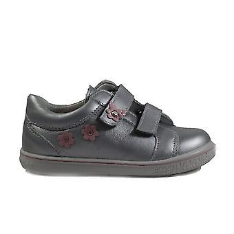 Ricosta Niddy 2523100-411 zilver lederen meisjes RIP tape casual trainer schoenen