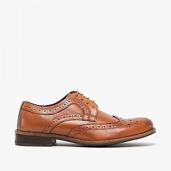 Silver Street London Milton Mens Leather Brogue Shoes Tan