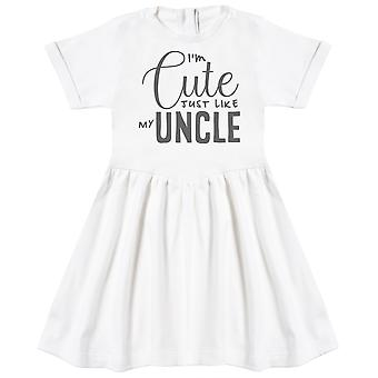 I'm Cute Just Like My Uncle Baby Dress