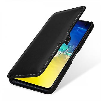 Case For Samsung Galaxy S10e Book Type Black Nappa In True Leather