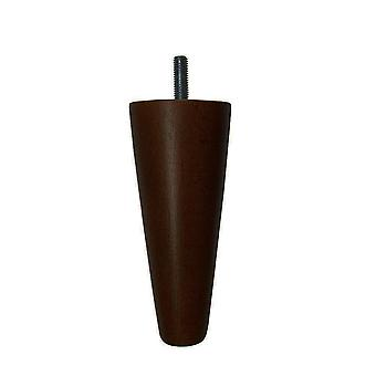 Brown cone-shaped wooden furniture leg 12 cm (M8)