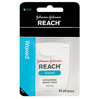 Reach dental waxed floss, unflavored, 55 yards