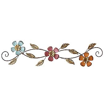 Chic Floral Scroll Metal Wall Decor