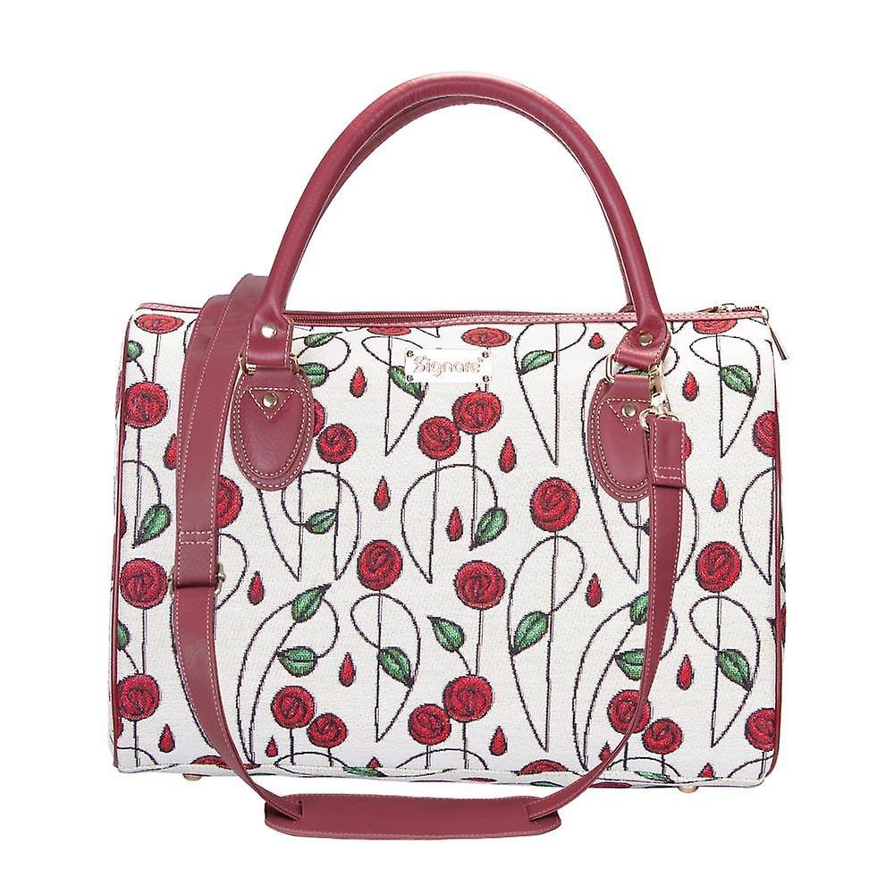 Mackintosh - simple rose travel bag by signare tapestry / trav-rmsp