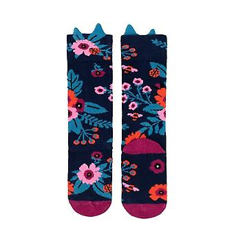 Billy loves audrey - knee hi socks - garden - navy