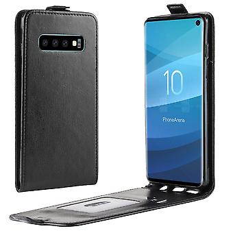 Dla Samsung Galaxy S10 case black PU leather vertical flip-style cover