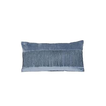Light & Living Pillow 60x30cm Fringes Blue