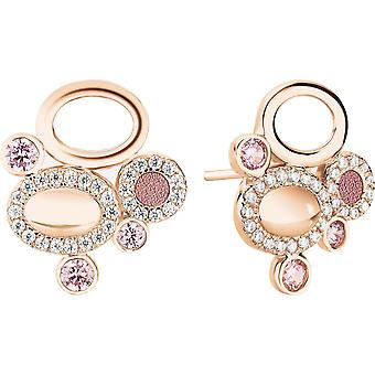 Earrings Zeades Ser02003 - earrings Rose Gold crystals woman
