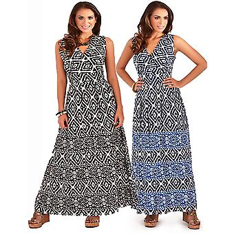 Pistachio Women's Aztec Print Summer Maxi Dress