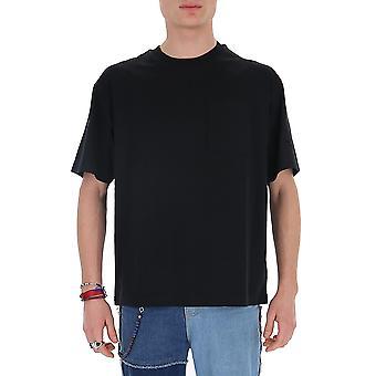 Acne Studios Bl0175black Men's schwarze Baumwolle T-shirt
