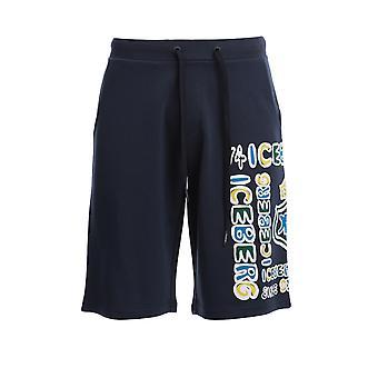 Iceberg D01263116379 Men's Blue Cotton Shorts