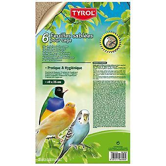 Tyrol 6 Lençóis de Areia M (Aves , Leitos e substratos)
