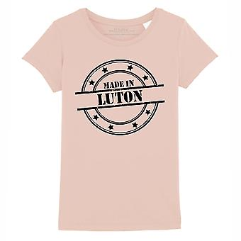 STUFF4 Girl's Round Neck T-Shirt/Made In Luton/Coral Pink