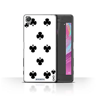 STUFF4 Case/Cover for Sony Xperia X Performance/8 of Clubs/Playing Cards