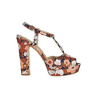 Strategia Ezgl097029 Women's Multicolor Leather Sandals