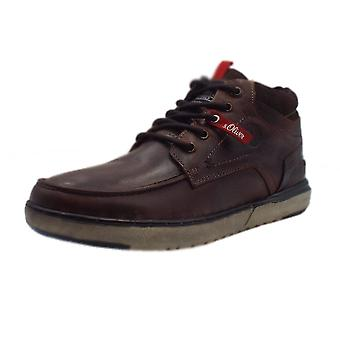 S.Oliver Schafer Men's 15228 Casual Lace Up Shoes In Dark Brown