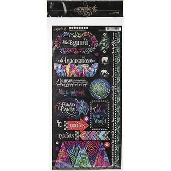 Kaleidoscope Cardstock Stickers 12
