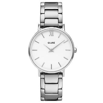 Cluse Watches Cw0101203026 Minuit White & Silver Stainless Steel Ladies Watch