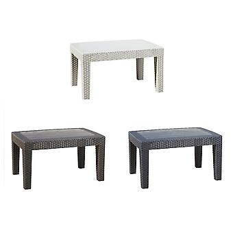 Rattan Effect Coffee & Drinks Side Table - Outdoor Garden Patio Furniture