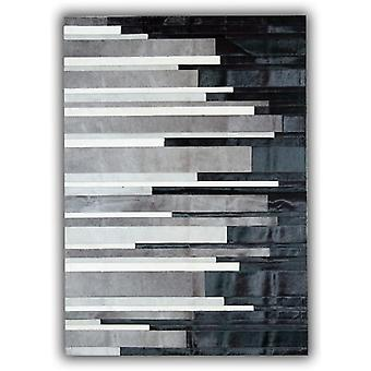 Rugs -Patchwork Leather Cowhide - ST City Stripes