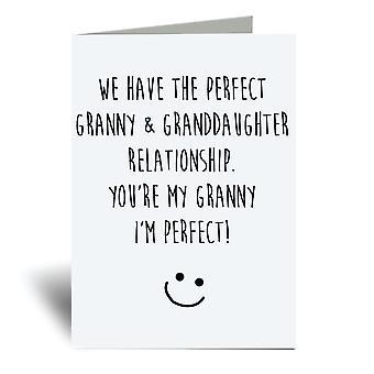 لدينا الكمال الجدة وعلاقة حفيدة، أنت جدتي وأنا الكمال! بطاقة المعايدة A6