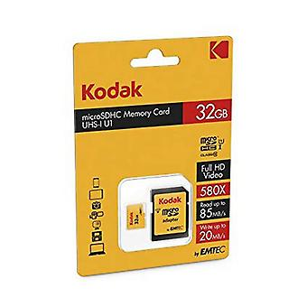 Micro SD-geheugenkaart met adapter Kodak UHS-I U1 Geel/32 GB