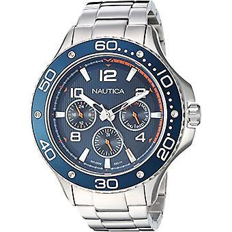 Nautica Analogueico Watch quartz men with stainless steel strap NAPP25006