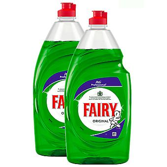 2 x Fairy Washing Up Dishwashing Liquid Original Green 900 ml Quality