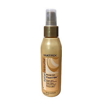 Matrix Résultats totaux Blonde Care Flash Filler Sheer Mist 4.2 OZ