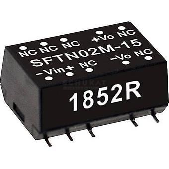 Keskimääräinen No SFTN02M-15 DC/DC-muunnin (moduuli) 133 mA 2 W Ei. lähtöjen määrä: 1 x