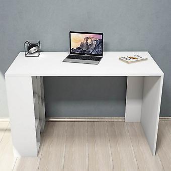 Scrivania Inci Color Bianco in Truciolare Melaminico, PVC 120x60x75cm