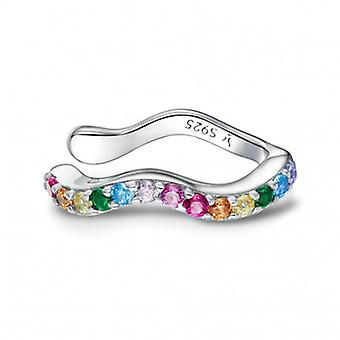 Silver Earrings Rainbow - 6624