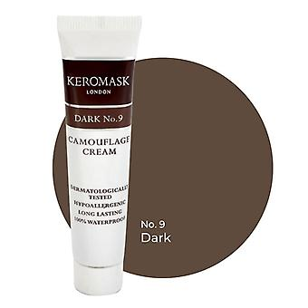 Keromask Full Cover Concealer Dark No 9 | Waterproof Camouflage Makeup | Hypoallergenic | 15ml