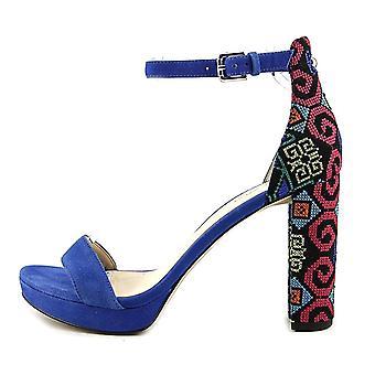 Negen West Womens Dempsey leer Open teen speciale gelegenheid enkel riem sandalen