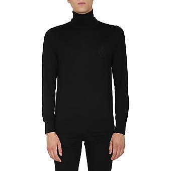 Dolce E Gabbana Gxb00zjavwhn0000 Men's Black Wool Sweater