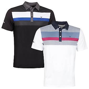 Callaway Golf Mens Print Opti-Dri Vocht Wicking Polo Shirt