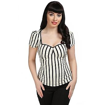 Collectif Clothing Mimi Ghost Stripes Top