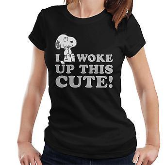 Erdnüsse Snoopy ich wachte diese niedliche Frauen's T-Shirt