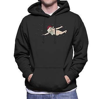 Rick and Morty Naked Ruben Flying Through Space Men's Hooded Sweatshirt