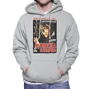 Hammer Horror Films Dracula Italien Movie Poster Men-apos;s Sweatshirt à capuchon