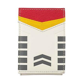 Gundam Brieftasche RX-78 Geld Clip Card geprägt Logo neue offizielle weiß