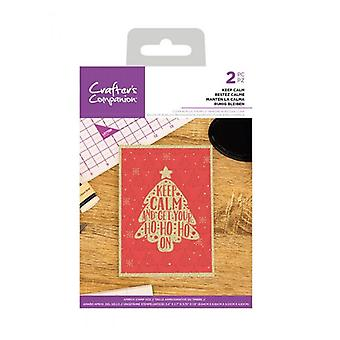 Crafter's Companion Keep Calm Clear Stamps